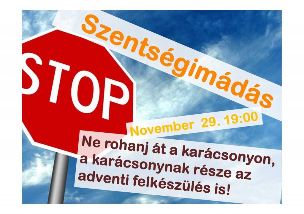 szentségimádás plakát 2014-11